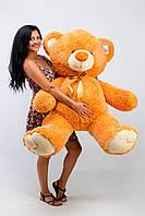 Мягкая игрушка большой плюшевый мишка Томми мандарин 150см