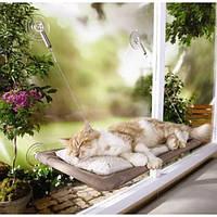 Оконная кровать As Seen On TV Sunny Seat Window Mounted Cat Bed подвесная для кота