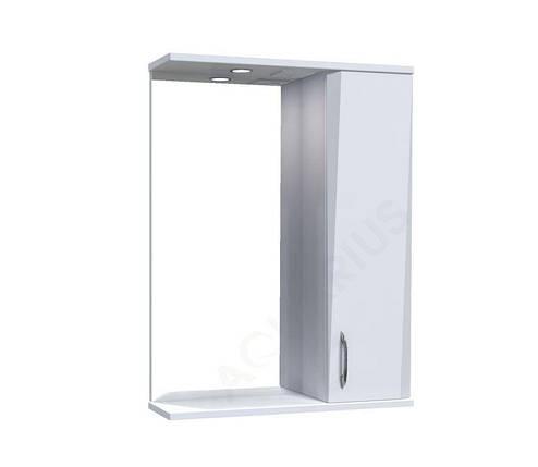 Зеркало Аквариус Жако со шкафчиком и подсветкой 55 см, фото 2