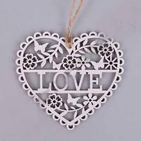 """Сердце подвесное """"love"""" - дерево"""