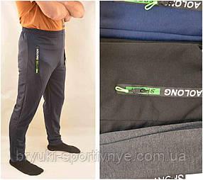 Брюки мужские спортивные зауженные с молниями на карманах Ao longcom Черный цвет