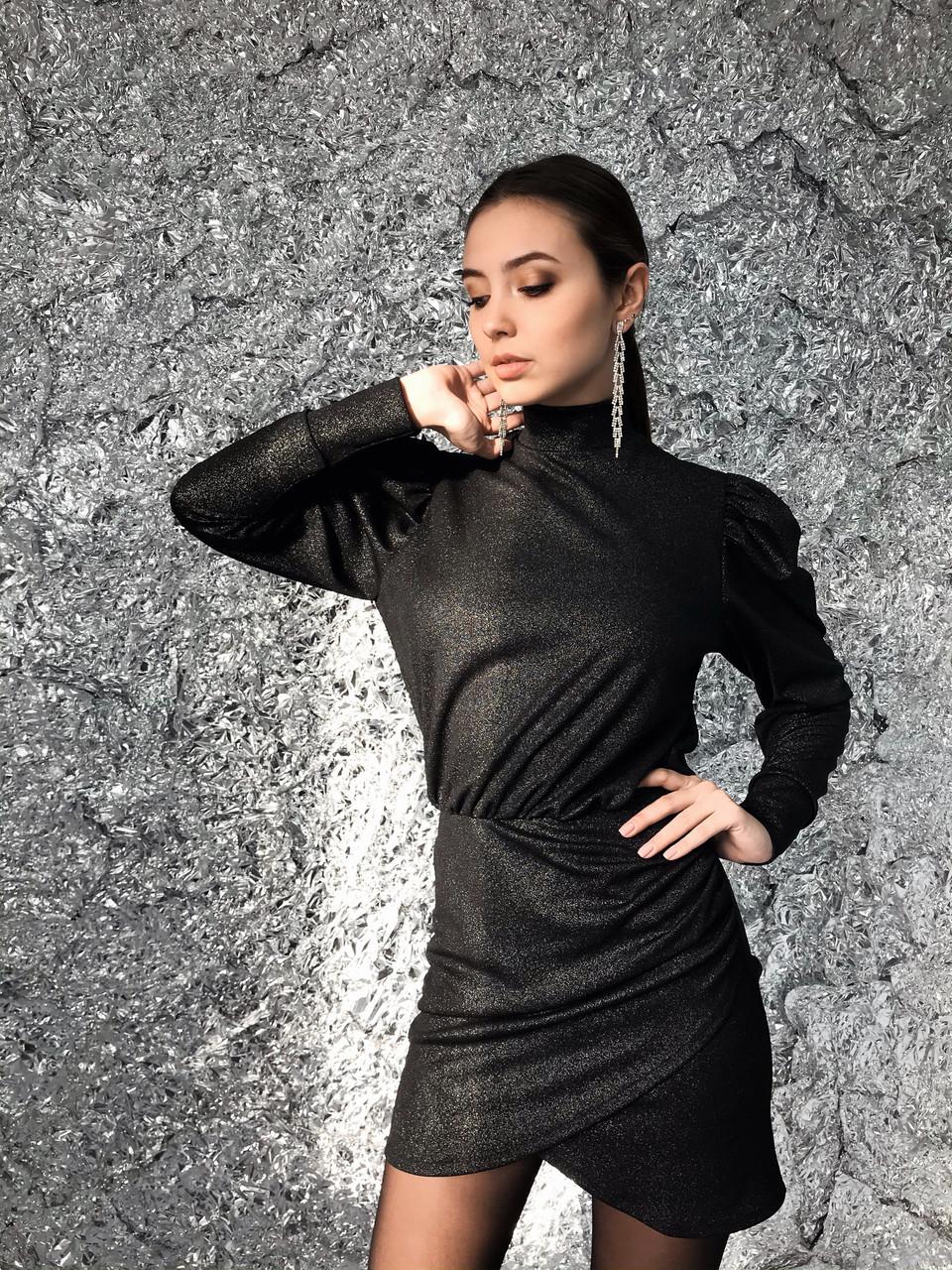 Коктейльное женское платье из трикотажа