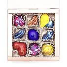 Шоколадные конфеты ручной роботы *Коробка металлик на 9шт.*, фото 3