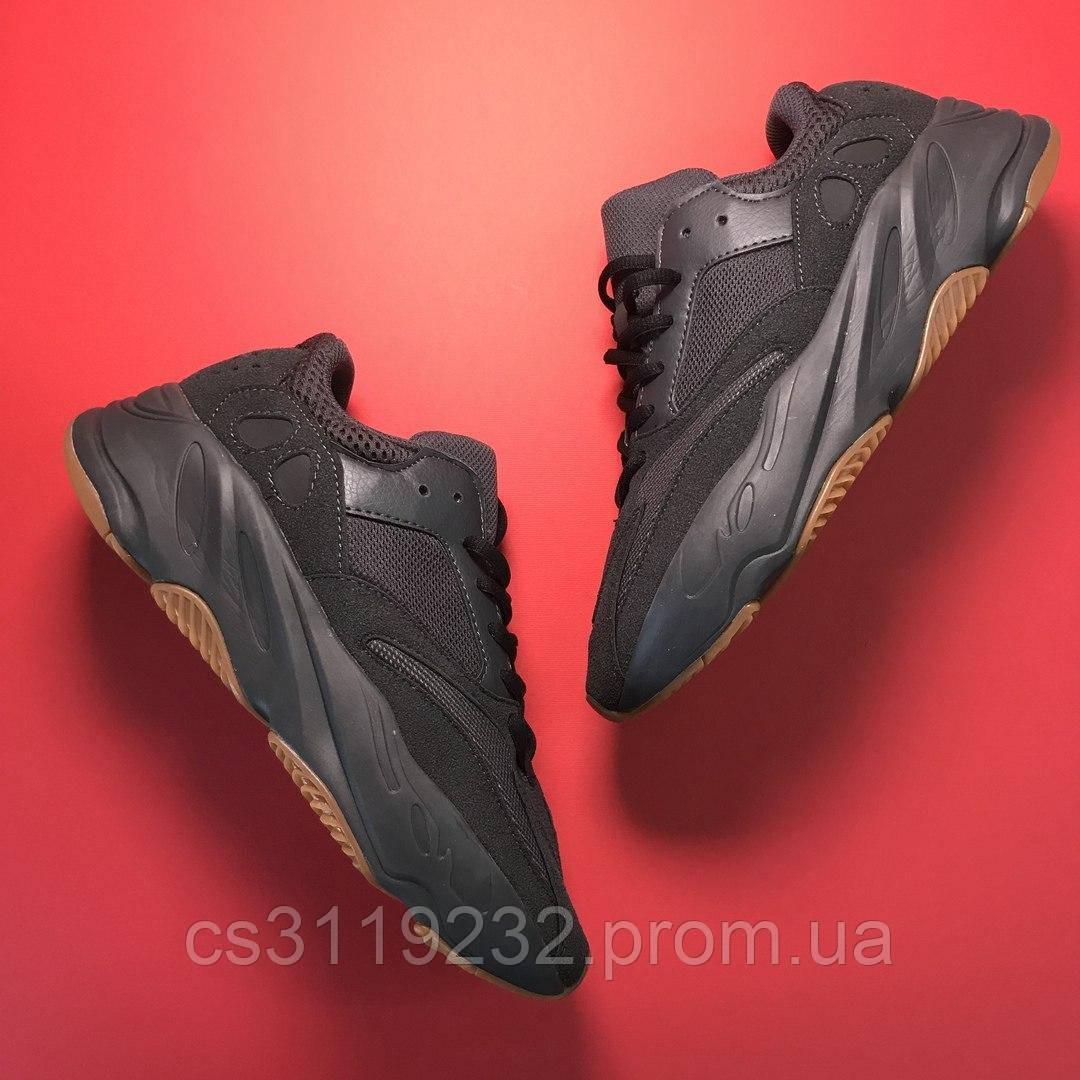 Жіночі кросівки Adidas Yeezy Boost 700 Utility Black (чорні)