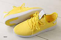 Женские кроссовки в сеточку, желтые 40 размер, фото 1
