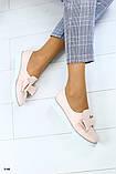 Женские туфли с бантиком на плоском ходу, фото 3