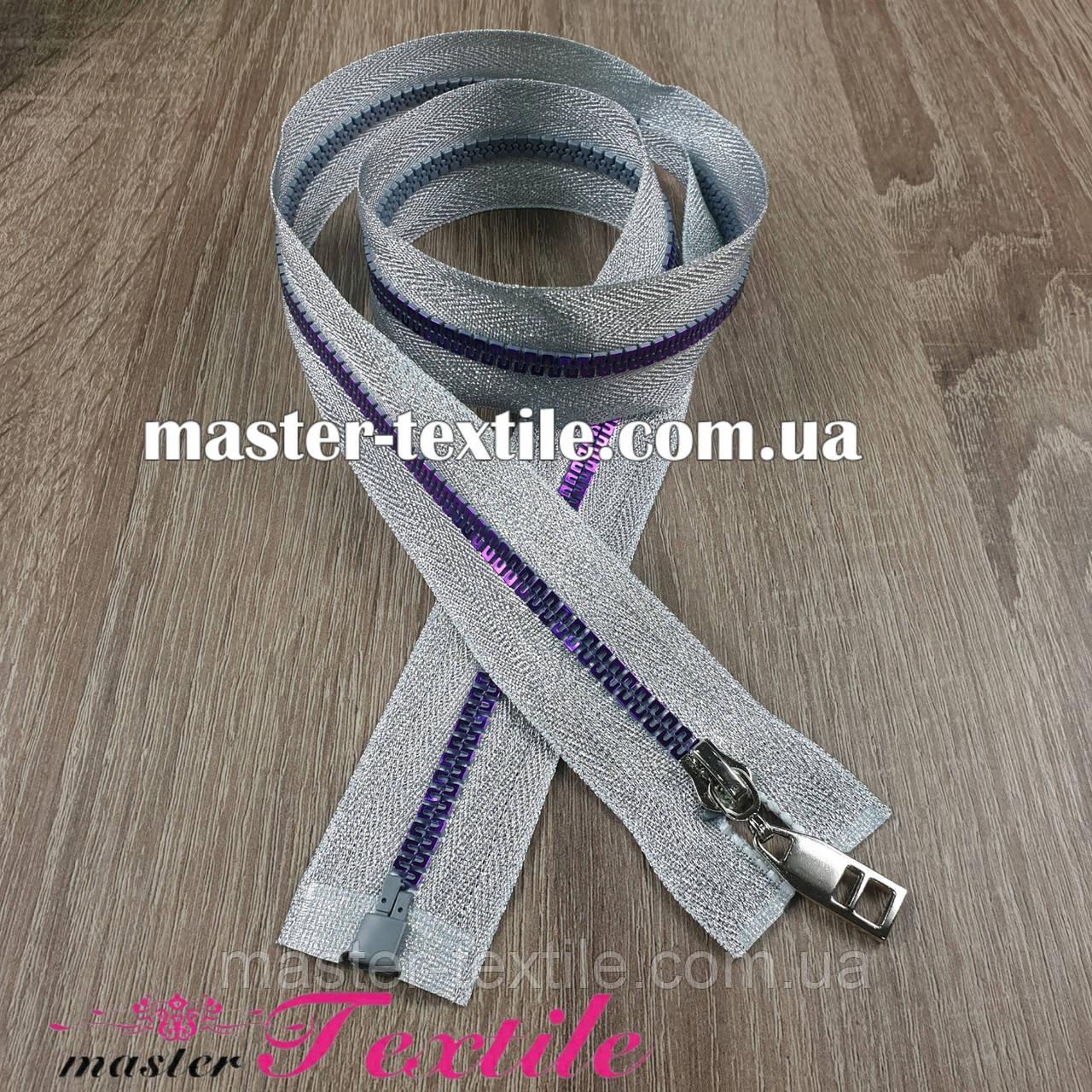 Молния серебро Т5 80см (фиолет)