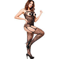 Сексуальный бодистокинг Розкішний еротичний бодістокінг Аглая (Черный) Розмір: універсальний (XS-XL)