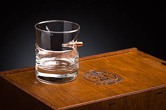 "Набір склянок для віскі 6шт з ""застряглою"" кулею 7.62мм, фото 2"
