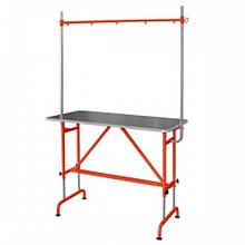 Стол для груминга GROOMER с кронштейном, оранжевый
