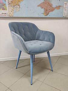 Обеденное кресло VIENA (Виена) голубой велюр от Nicolas