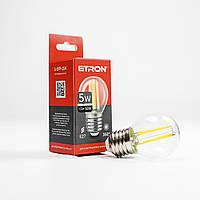 Лампа світлодіодна ETRON Filament Power 1-EFP-154 G45 E27 5W 4200K прозоре скло
