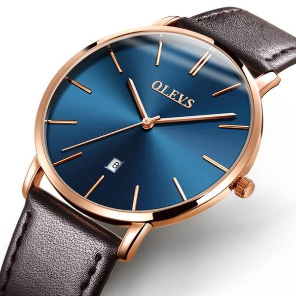 Стильные мужские часы минималистичного дизайна Shengke Uni Men