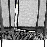 Батут детский EXIT Tiggy 140 см серый с внутренней сеткой, фото 3