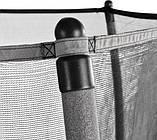 Батут детский EXIT Tiggy 140 см серый с внутренней сеткой, фото 4