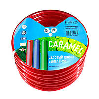 Шланг поливочный Presto-PS силикон садовый Caramel (красный) диаметр 3/4 дюйма, длина 20 м (SE-3/4 20)