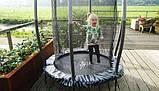 Батут детский EXIT Tiggy 140 см серый с внутренней сеткой, фото 8