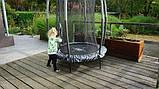 Батут детский EXIT Tiggy 140 см серый с внутренней сеткой, фото 9