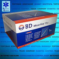 Шприцы инсулиновые BD Micro Fine Plus U-100 1 мл (США, Нью-Джерси) 100 шт.