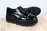 Криперы женские, серебристые, из натуральной кожи, на шнурках, фото 5
