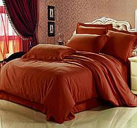 Комплект постельного белья Сатин Премиум Винный, фото 1