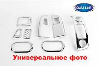 Накладки на внутренние пороги 2 шт Volkswagen Golf VI 2010-2013 Omsa Line 7503094