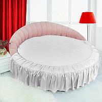 Кругла ліжко. Підзор Білий, фото 1