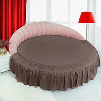 Круглая кровать. Подзор Порох