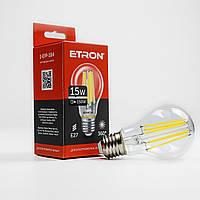 Лампа світлодіодна ETRON Filament Power 1-EFP-104 A60 15W 4200K E27 прозоре скло