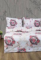 Постельное белье Lotus Ranforce - Angelique V1 розовое полуторное