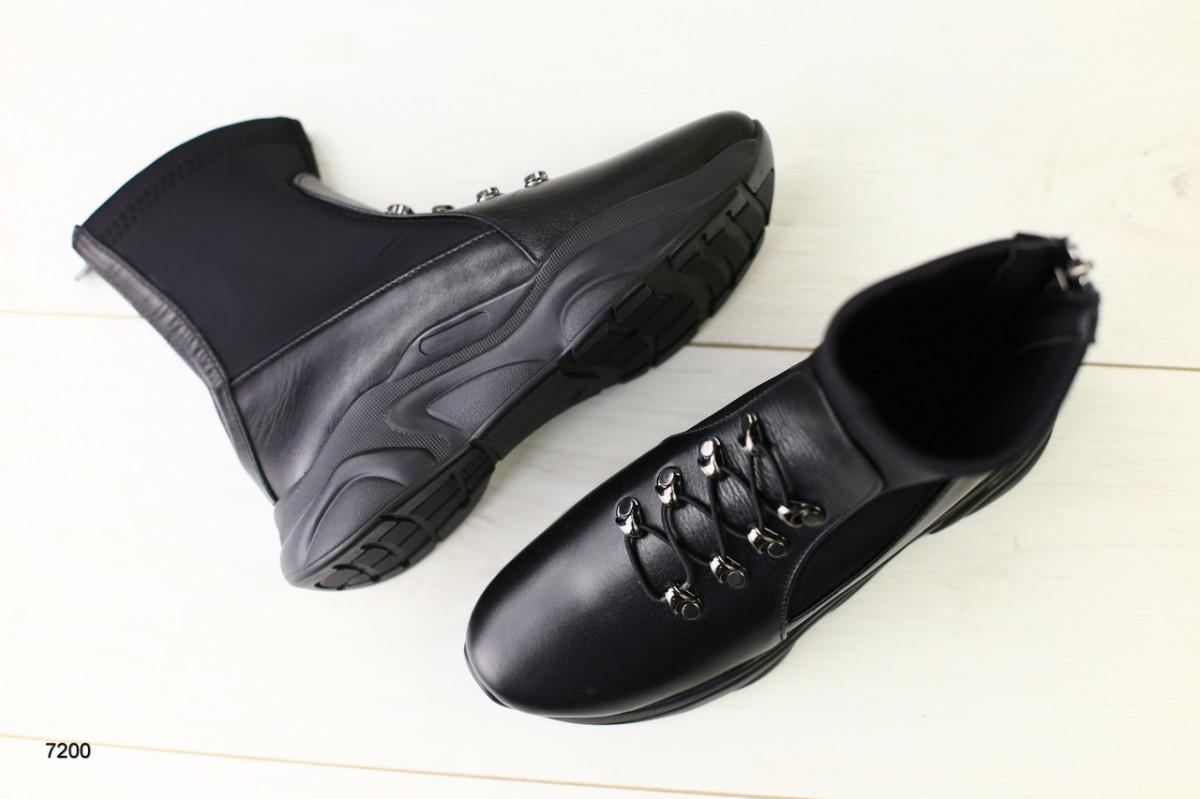 Демисезонные женские ботинки черные