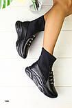 Демисезонные женские ботинки черные, фото 2