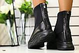 Демисезонные женские ботинки черные, фото 5