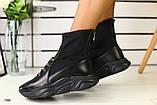 Демисезонные женские ботинки черные, фото 6