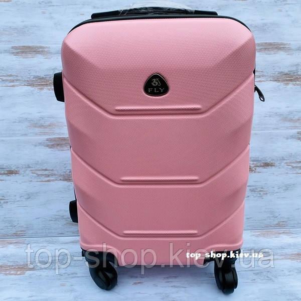 Чемодан для ручной клади на колесах Fly 31 л (маленький) розовый