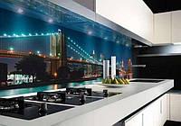 Фартуки для кухни из стекла, фото 1
