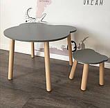 """Дитячий комплект """"Ведмедик"""" (дерев'яний стіл і табуретка), фото 3"""