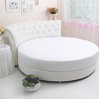 Простирадло на Круглу ліжко Модель 2 Біла, фото 1