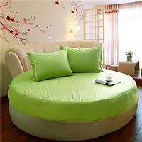 Простынь на Круглую кровать Модель 2 Салатовая, фото 1