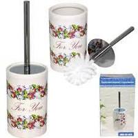 888-05-005 Туалетний йоржик з підставкою Квітковий вальс (34*10см)