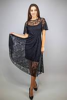 Кружевное вечернее платье миди черный цвет бренд VCS