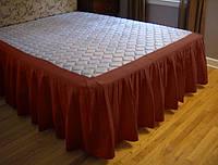 Підзор для ліжка Складки Модель 4 Винний, фото 1