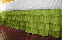 Подзор на кровать Рюши Модель 5 Салатовый