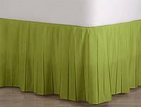 Подзор для кровати Узкие складки Модель 1 Салатовый, фото 1