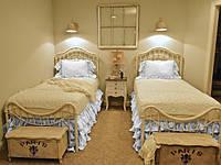 Підзор на ліжко Рюші Модель 5 Білий, фото 1