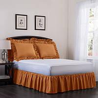 Подзор на кровать Рюши Модель 7 Медовый, фото 1