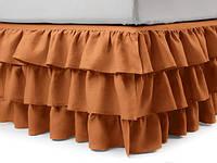 Подзор на кровать Рюши Модель 8 Медовый, фото 1