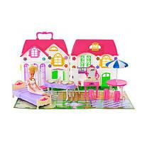 Игрушечный домик для кукол 3161, с куклой, 30 деталей