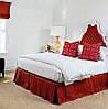 Подзор для кровати Складки Модель 2 Винный