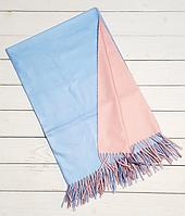 Платок Деми 100*105 см,  голубой/пудра